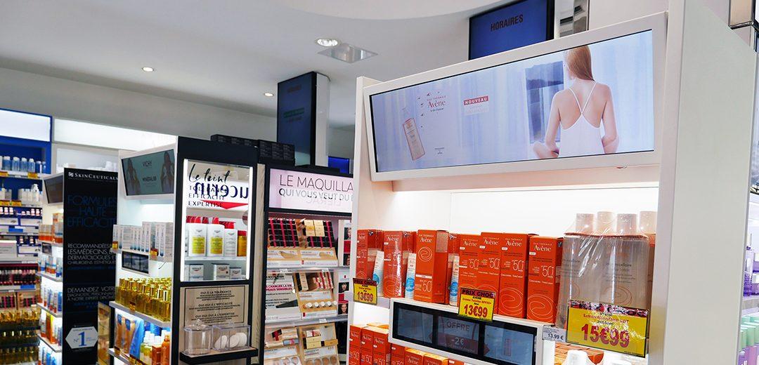 Ecrans Digitaux merchandising – TGD :100 tg digitales installées