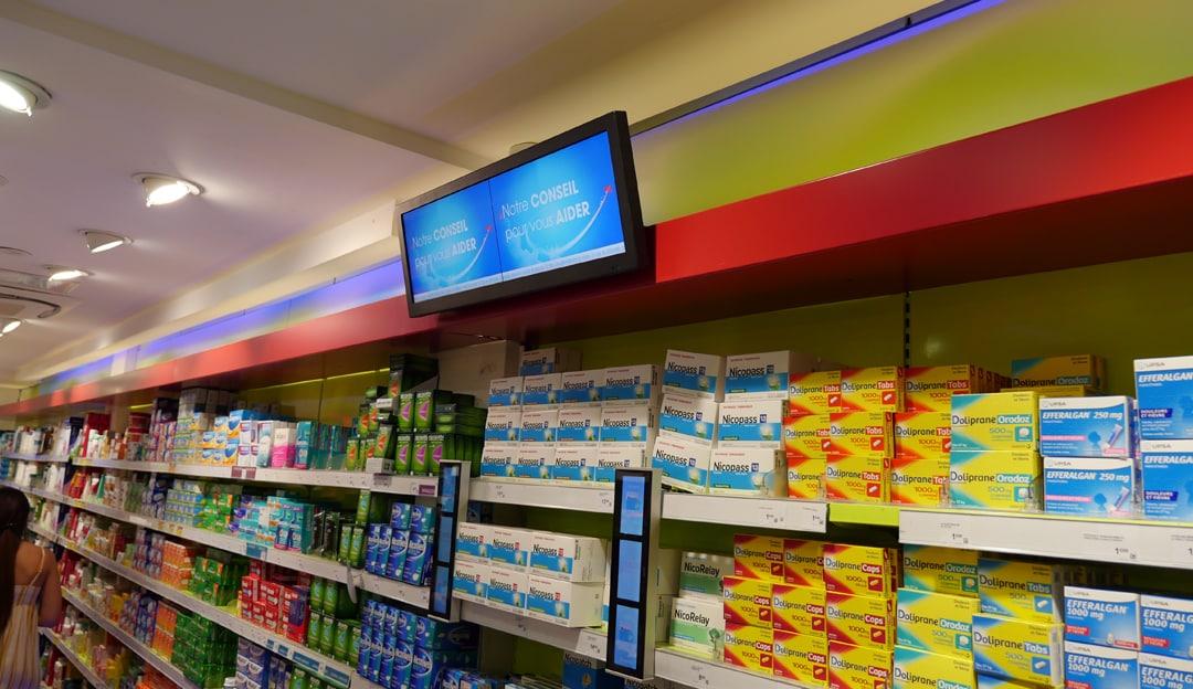 Ecrans Digitaux merchandising – TVL :10 Linéaires Digitaux installés