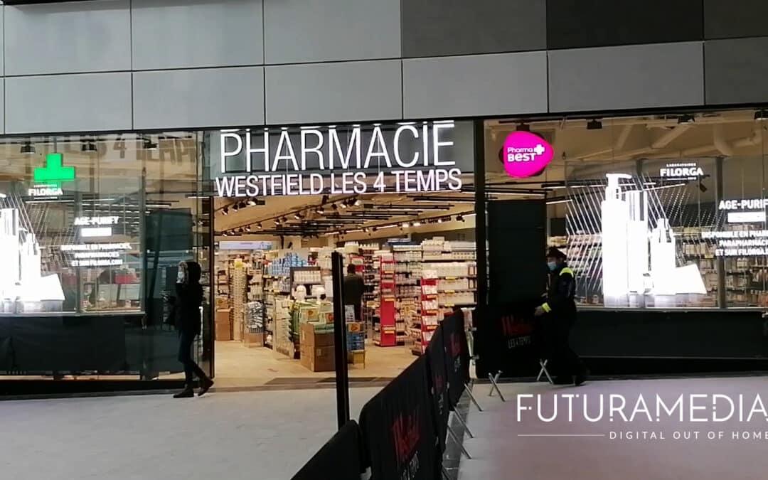 FUTURAMEDIA installe des murs d'écrans LED transparents